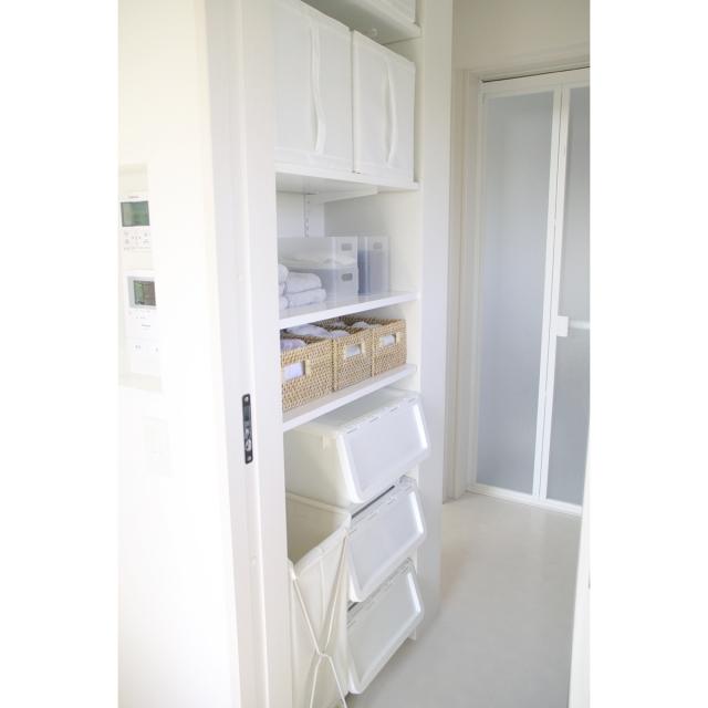 ②取り出しやすいオープン棚で見せる収納