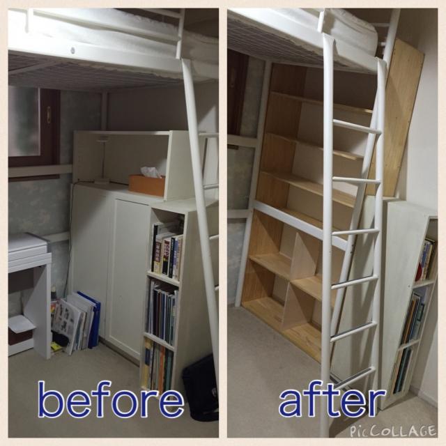 DIYでぴったりサイズの棚を作成