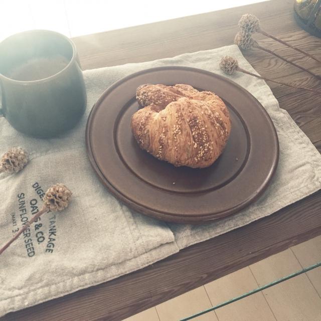 シンプルな朝食に