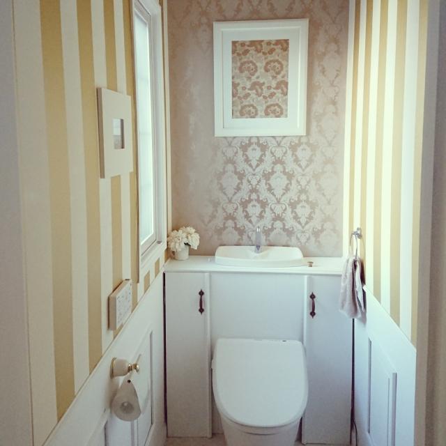 隠すだけで大幅イメージチェンジ!タンクレストイレ風DIY