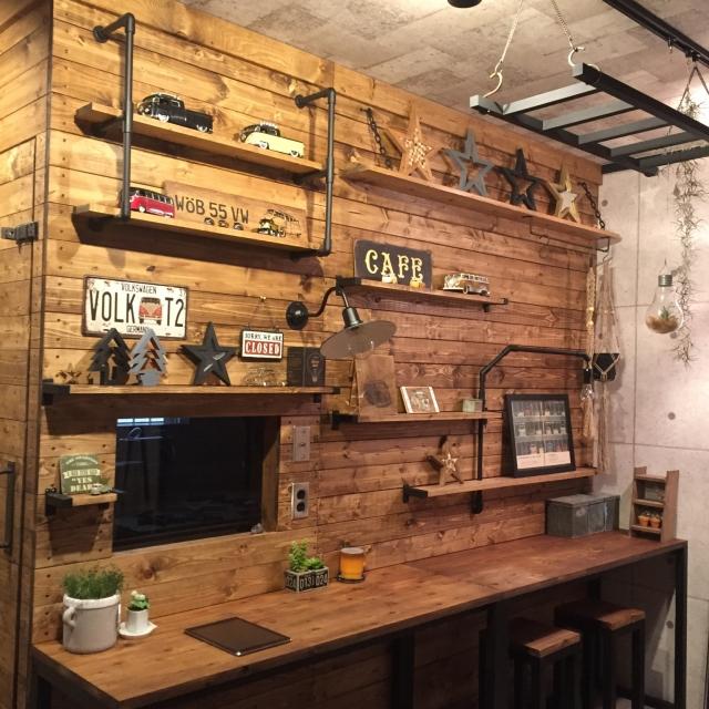 ぜひとりいれたい♡ディアウォールで作る憧れの板壁DIY