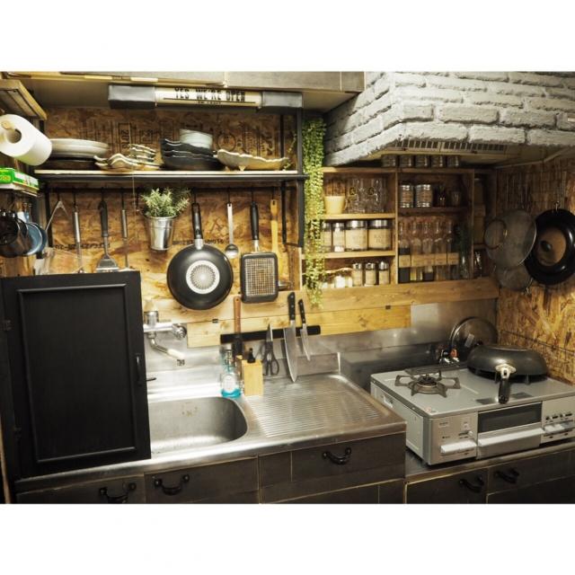 見せるから使いやすいキッチン