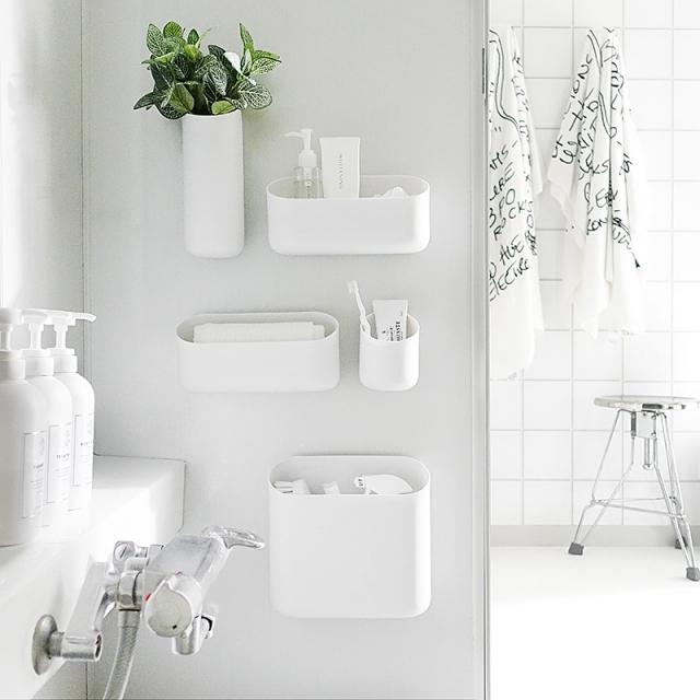 お風呂の壁が大活躍!すっきり清潔がかなうマグネット収納