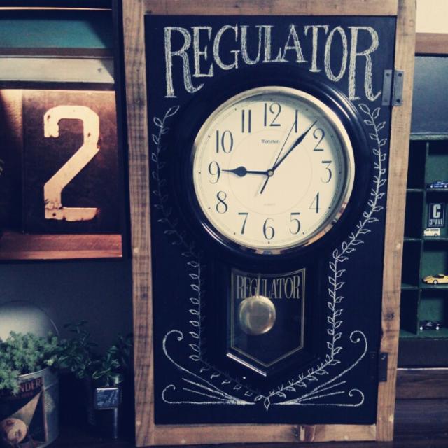 古時計で扉をリメイクDIY