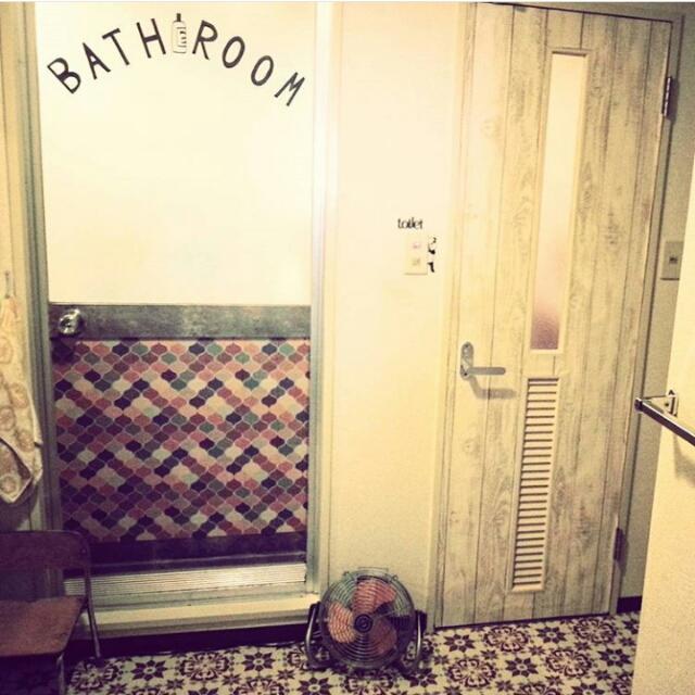 タイル柄でエキゾチックな雰囲気のドア