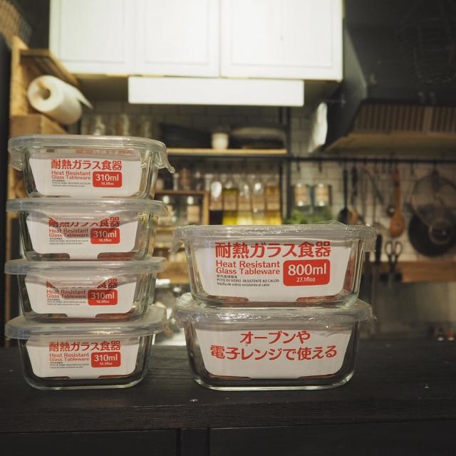 ダイソー・耐熱ガラス食器108円~324円