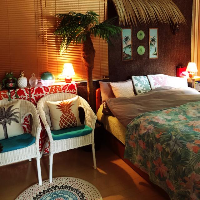 お部屋のリラックスムードを高める♪ハワイアンインテリア
