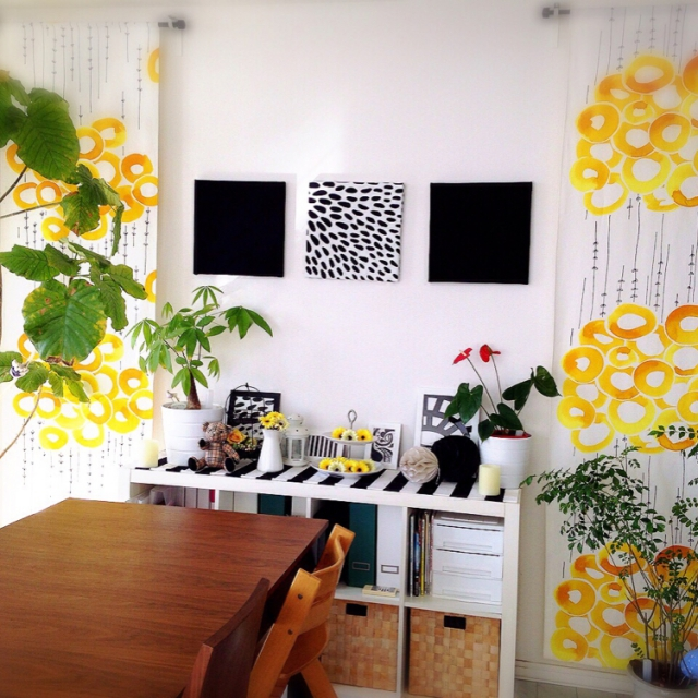 IKEAのファブリックで、印象的なお部屋作り