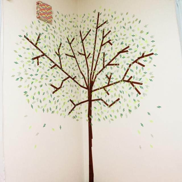 大きな木を描く