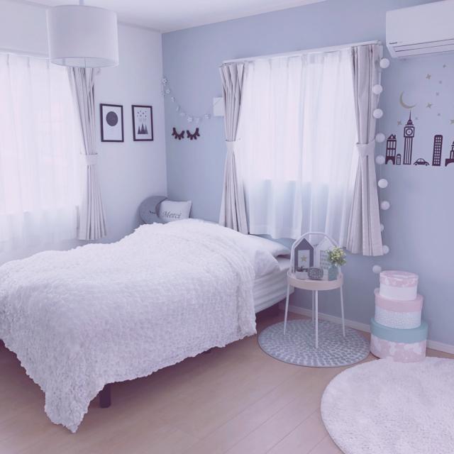 ロマンチック♪パステルカラーで作るやさしいベッドルーム