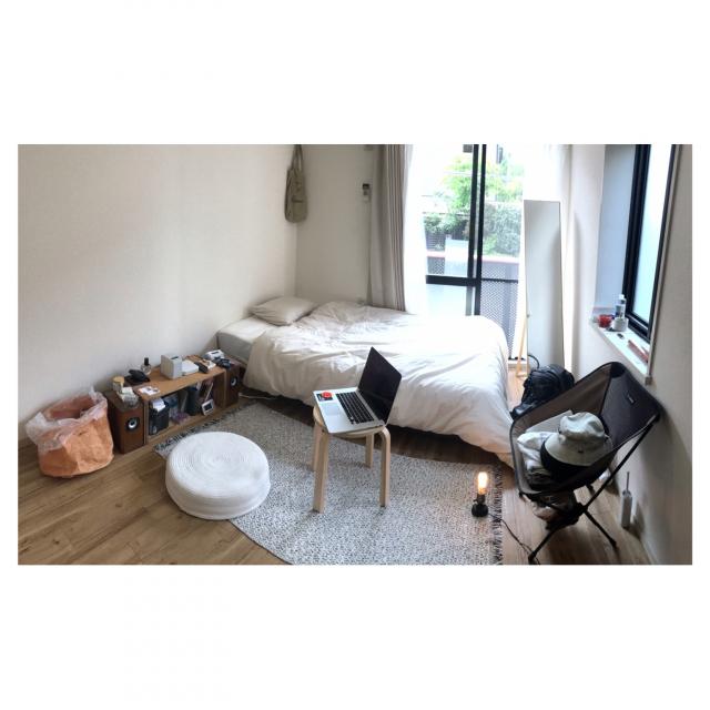 「15m2。厳選アイテムで自分らしさを。大きな家具を置かないシンプルライフ」 by hitori_gurashi_さん