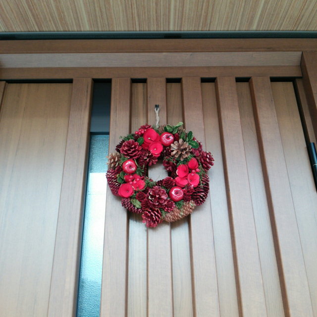 季節感じる玄関に♪ニトリ製品を使った秋冬デコレーション