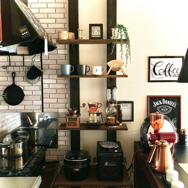 センスとこだわりが活きる空間♡大人のカフェ風インテリア