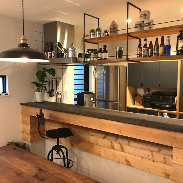大人のリラックス空間♪落ち着いた雰囲気のカフェキッチン
