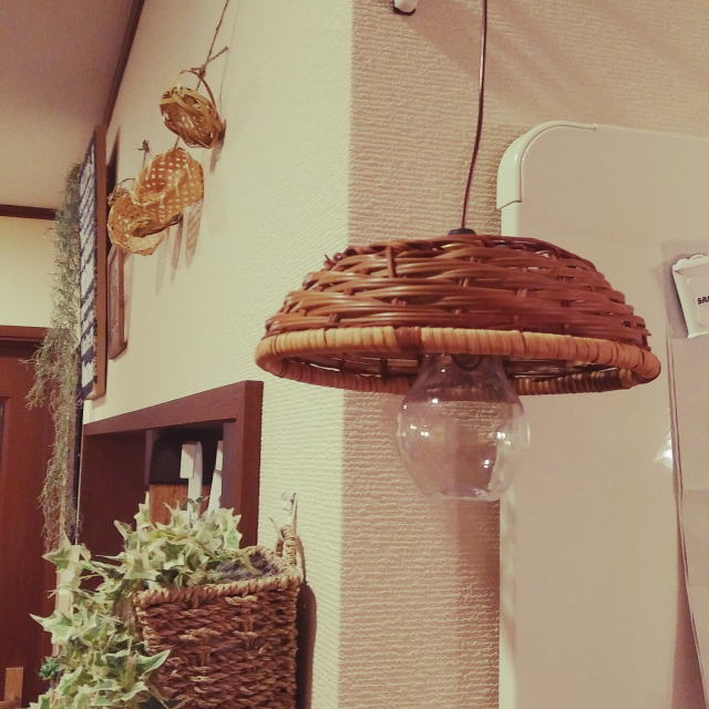「ナチュラルカフェに◎針金で簡単!かごミニランプ」 by nene-laynyさん