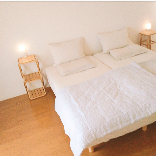 シンプルが好き♪無印良品のベッドを取り入れた寝室10選