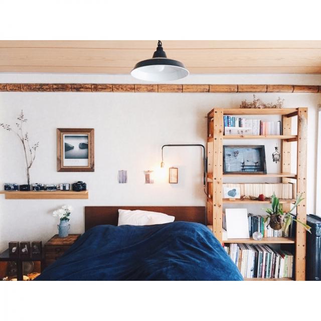 ニトリと無印良品ですっきりベッドルーム