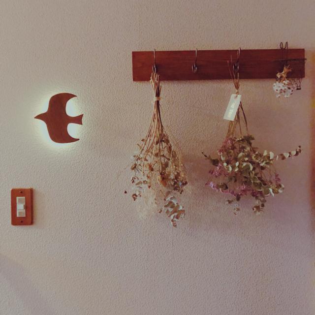 「簡単木板アレンジで、憧れウォールハンガーをGET!」 by yukatakoさん