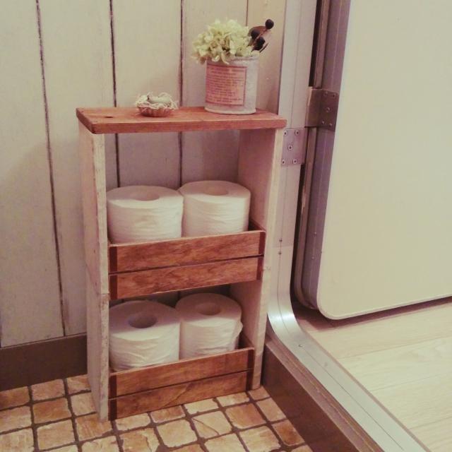 木箱を使って収納箱を手作りしよう