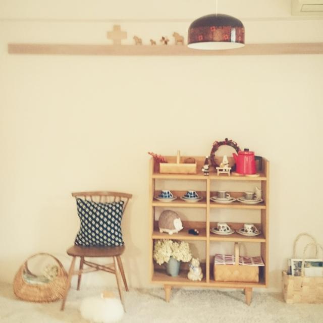 リビングの棚に北欧雑貨を飾ろう!