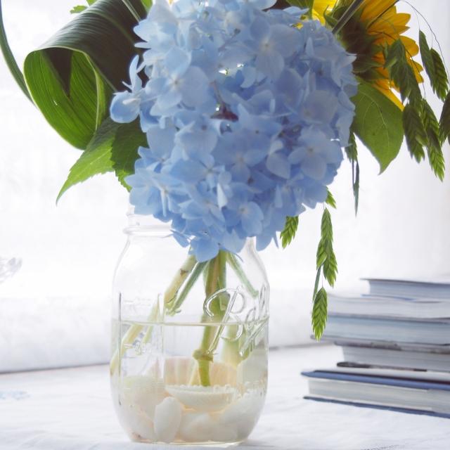 メイソンジャーに花を飾ってみよう