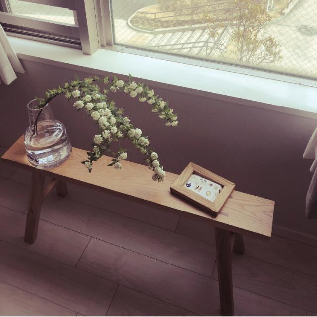 リラックス空間を演出♪便利な無印良品のベンチとスツール