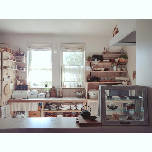ずっとここに居たくなる。心和むナチュラルテイストのキッチン実例集