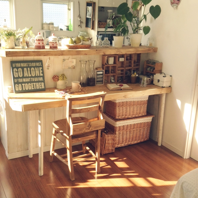 ほっと一息つけるおうちカフェの完成!chocolateさんカウンターテーブル