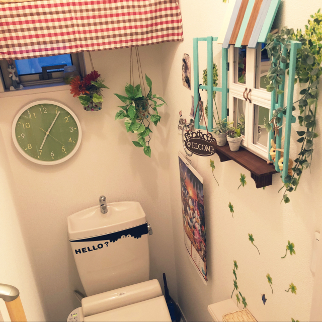 トイレをワンランクUP♪フェイクグリーンの取り入れ方10選