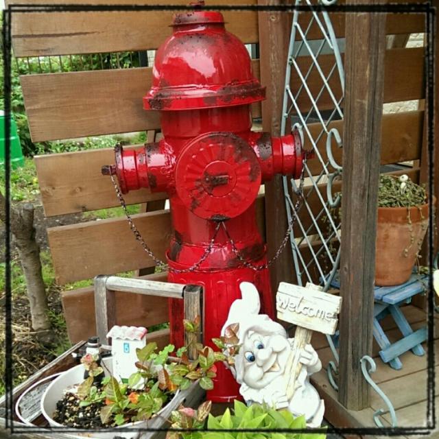 消火栓型のオブジェをDIY