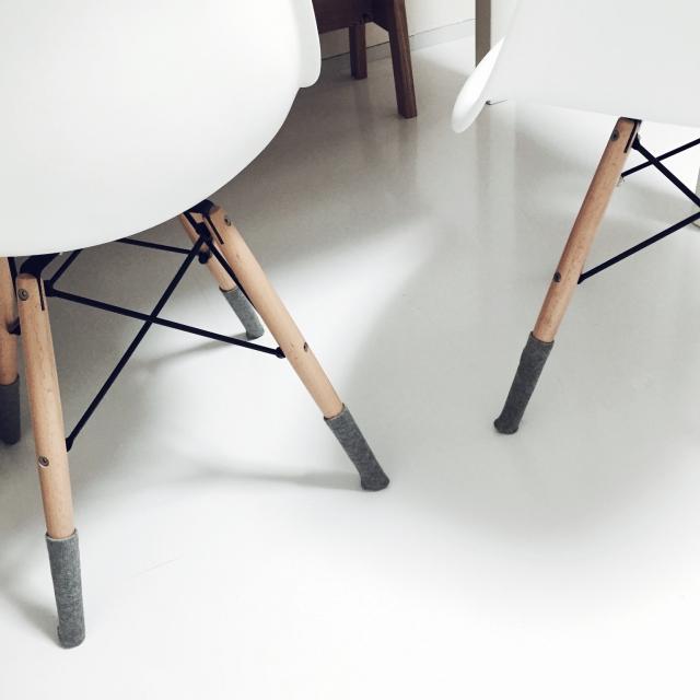 床を守る&椅子を動かしやすくする!便利な椅子脚カバー