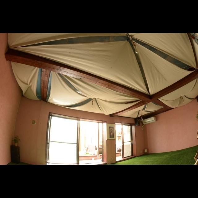 ❝塗装&テント風❞で屋外の雰囲気を楽しむ