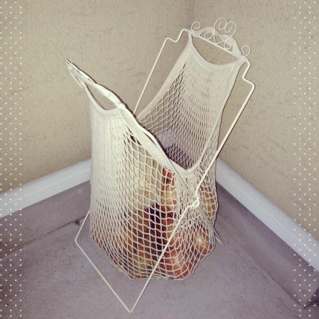 野菜ストッカーもネットバッグで