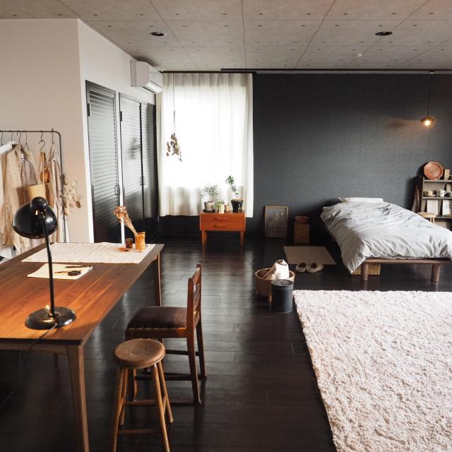 「45m2。古家具でつくるショップのようなワンルーム」 by greeeeenさん