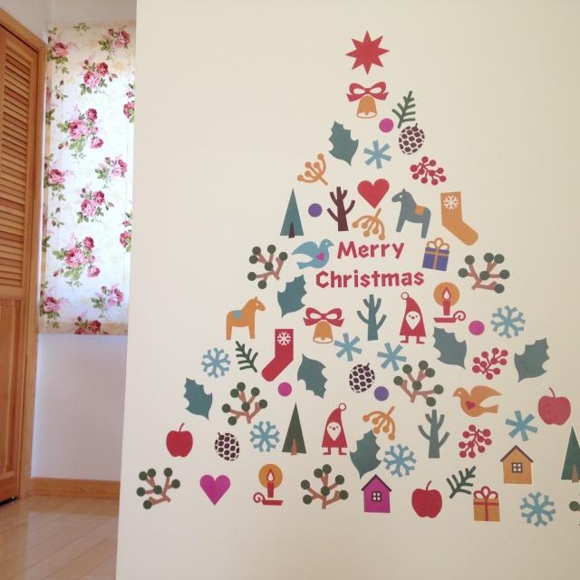 クリスマスもウォールデコレーションをして、もっと華やかに過ごそう
