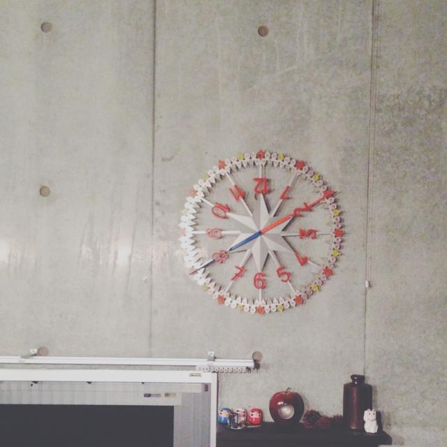 インパクト大な壁掛け時計