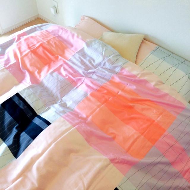Katsuraさんのベッドカバー