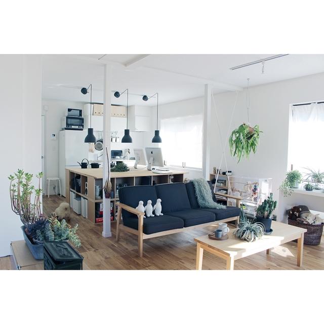 シンプルなのに個性的!IKEAの照明「HEKTAR」のある部屋