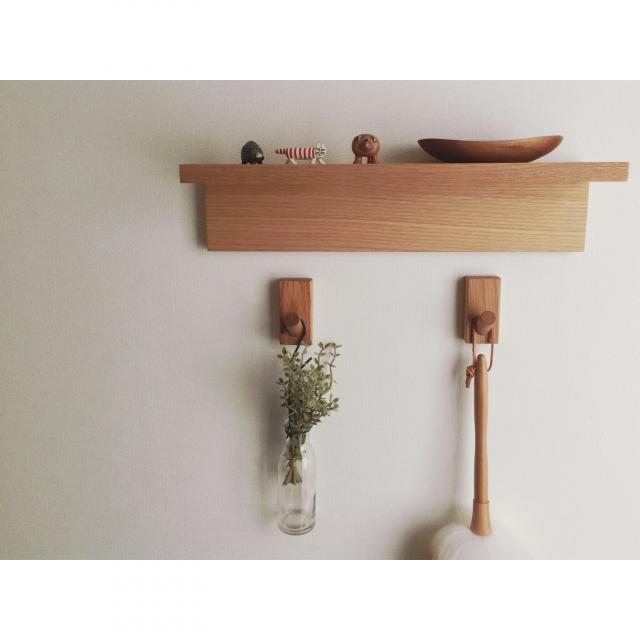 わずかな空間も活用できる♡無印良品の壁に付けられる家具