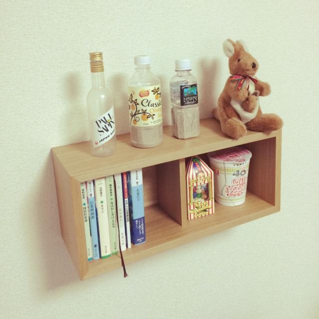 文庫本にピッタリなサイズの棚