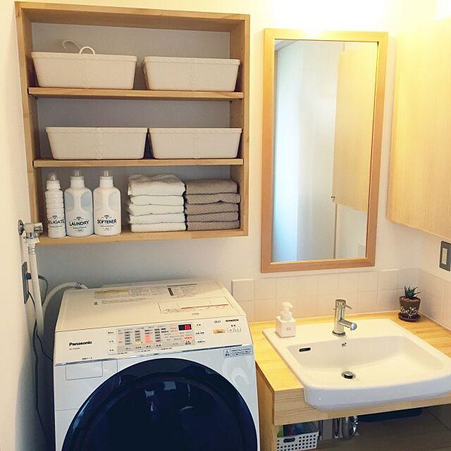 洗面所がすっきりする収納で、心地よい毎日を