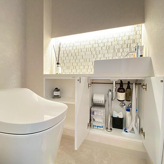 コンパクトなスペースだからこそ工夫が生きる♪使いやすいトイレ収納の実例