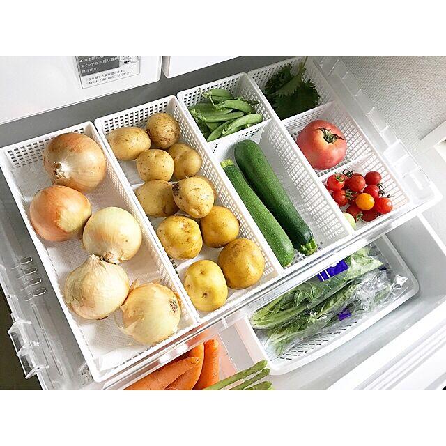 プラケースがあればこんなにキレイ!見習いたい冷蔵庫収納