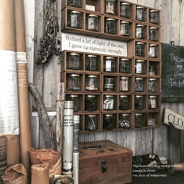 セリアの木箱で☆お気に入りをディスプレイするアイディア