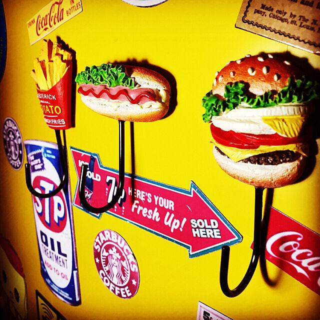 「付けるだけ◎並べてかわいいハンバーガーフック♪」 by m.k.a.457さん