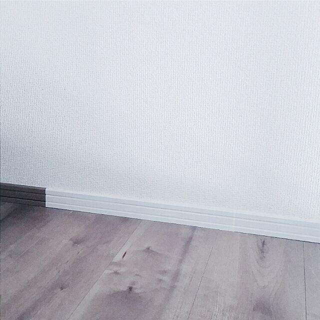 気になる巾木をステキに変える、「貼っただけ」アレンジ  by erixonさん [連載:○○しただけインテリア]
