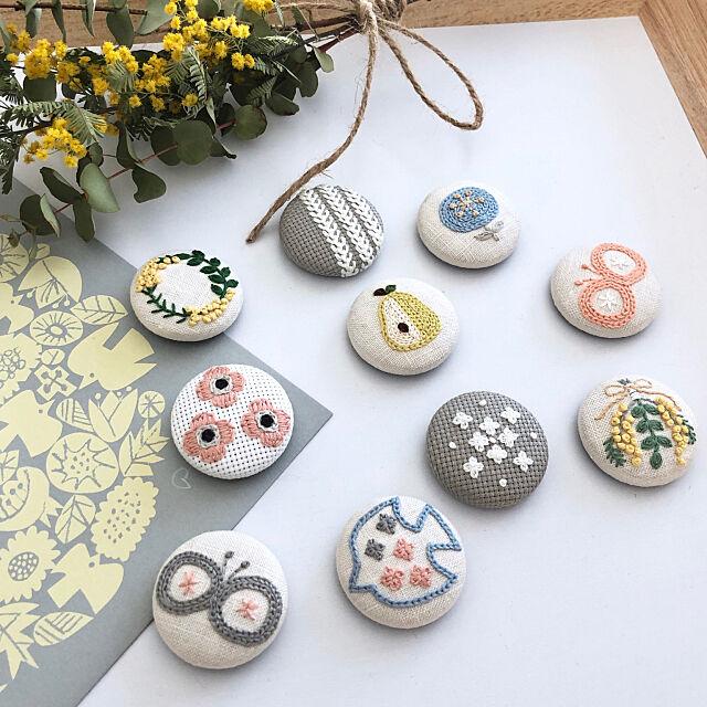 「思い」や「好き」を作品に込める♡刺繍で作る小物やインテリアアイテム