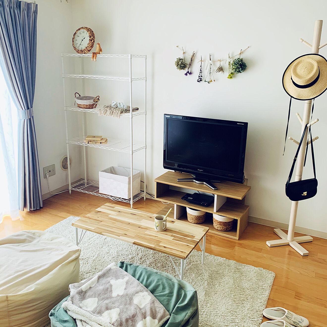 「29m2。優しさで包み込むような、幸せ感じるナチュラルなお部屋づくり」 by chisato.さん