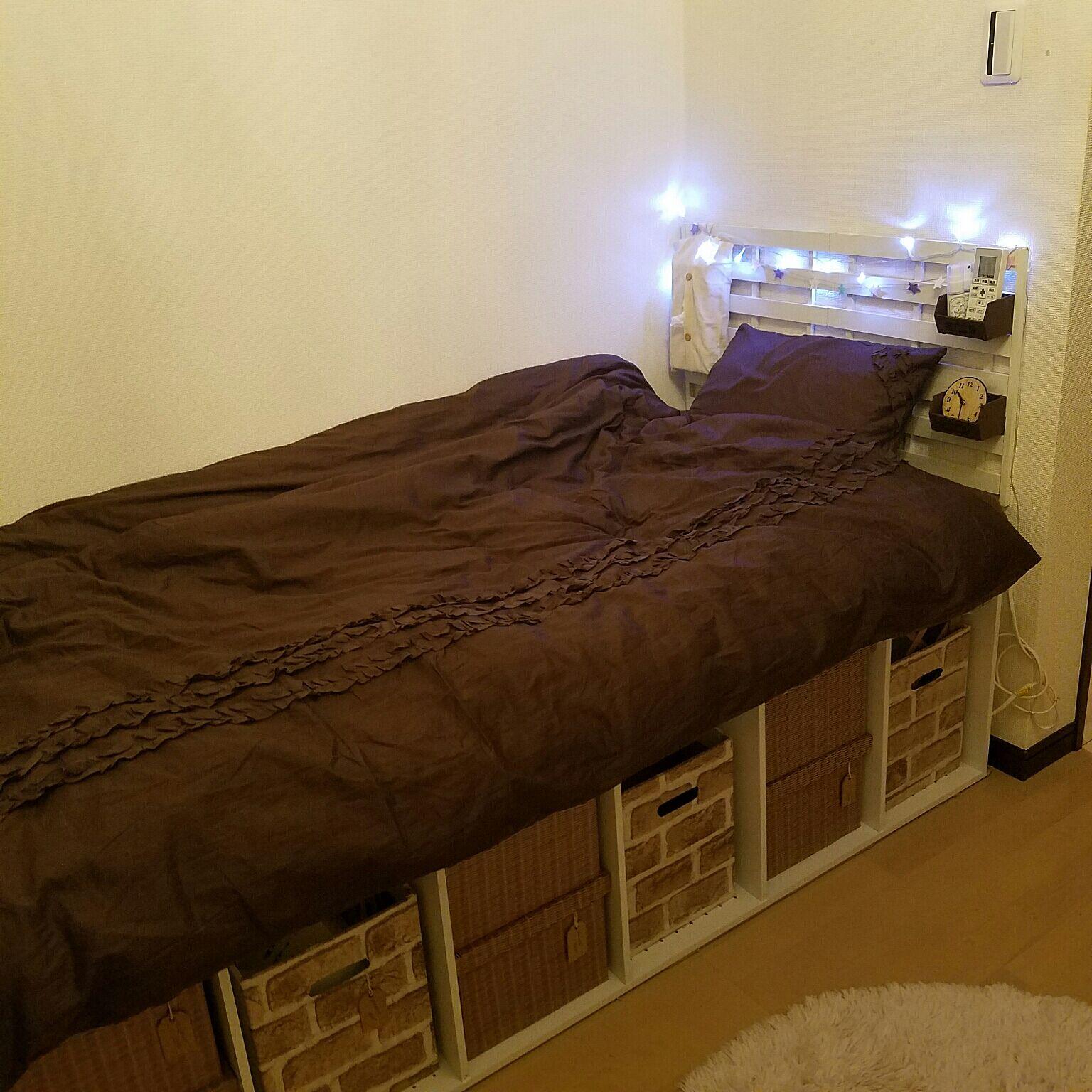 ベッド下の空間を自由にアレンジ 階段付き ...