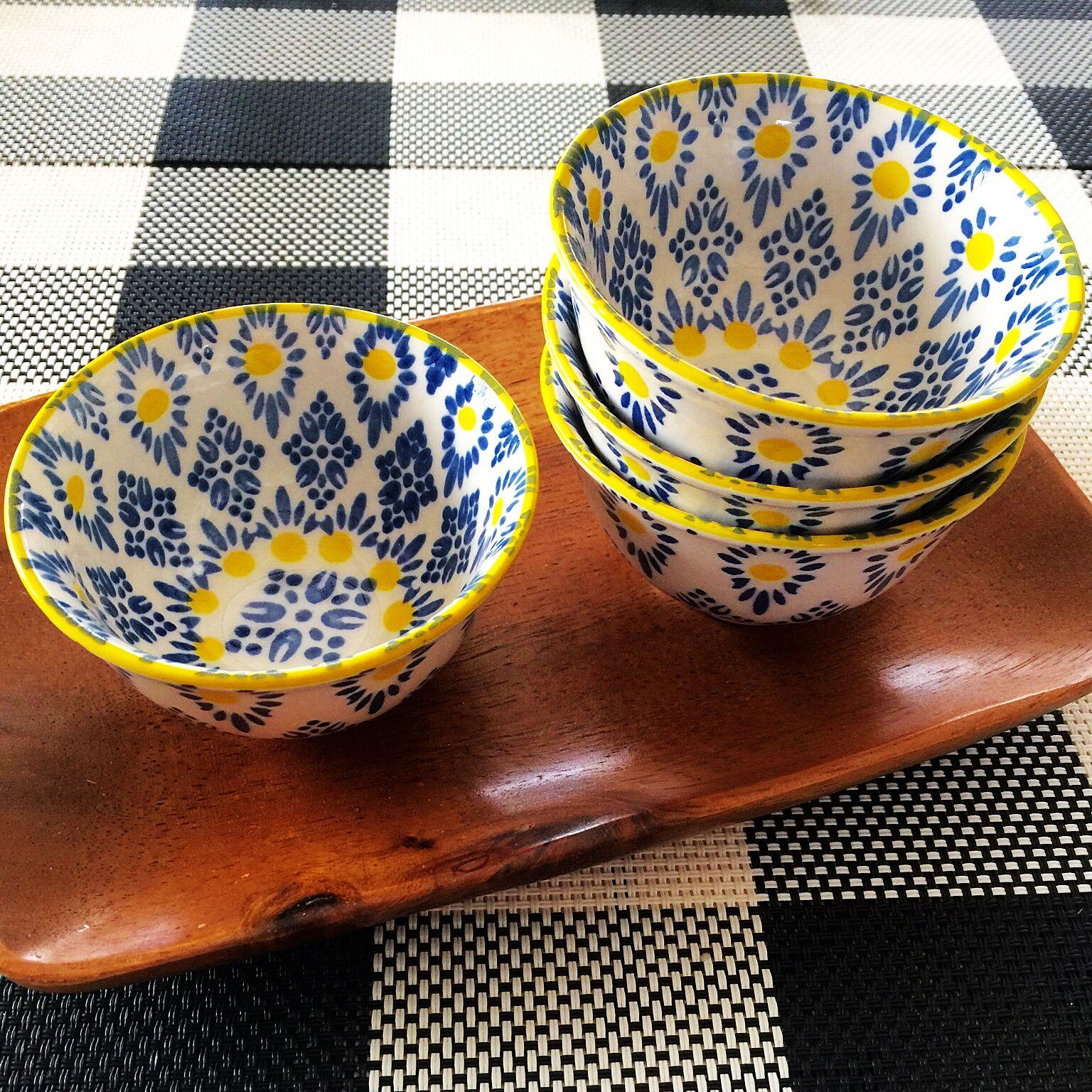セリアのボヘミアン柄食器
